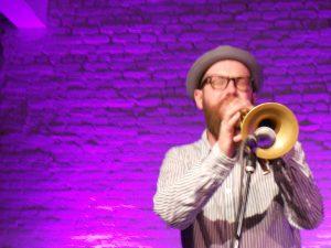 Photo by Madeleine Ventrice-Knuffke --  Kirk Knuffke www.kirkknuffke.com