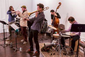 Josh Deutsch's Pannonia (with Josh Deutsch, Zach Brock, Ryan Keberle, Gary Wang, and Ronen Itzik): Queens Jazz OverGround 2015 Spring Jazz Festival at Flushing Town Hall 04-25-15